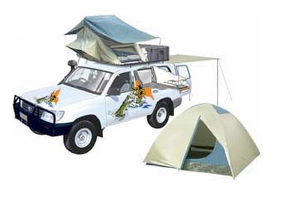 discount 4wd with camping equipment