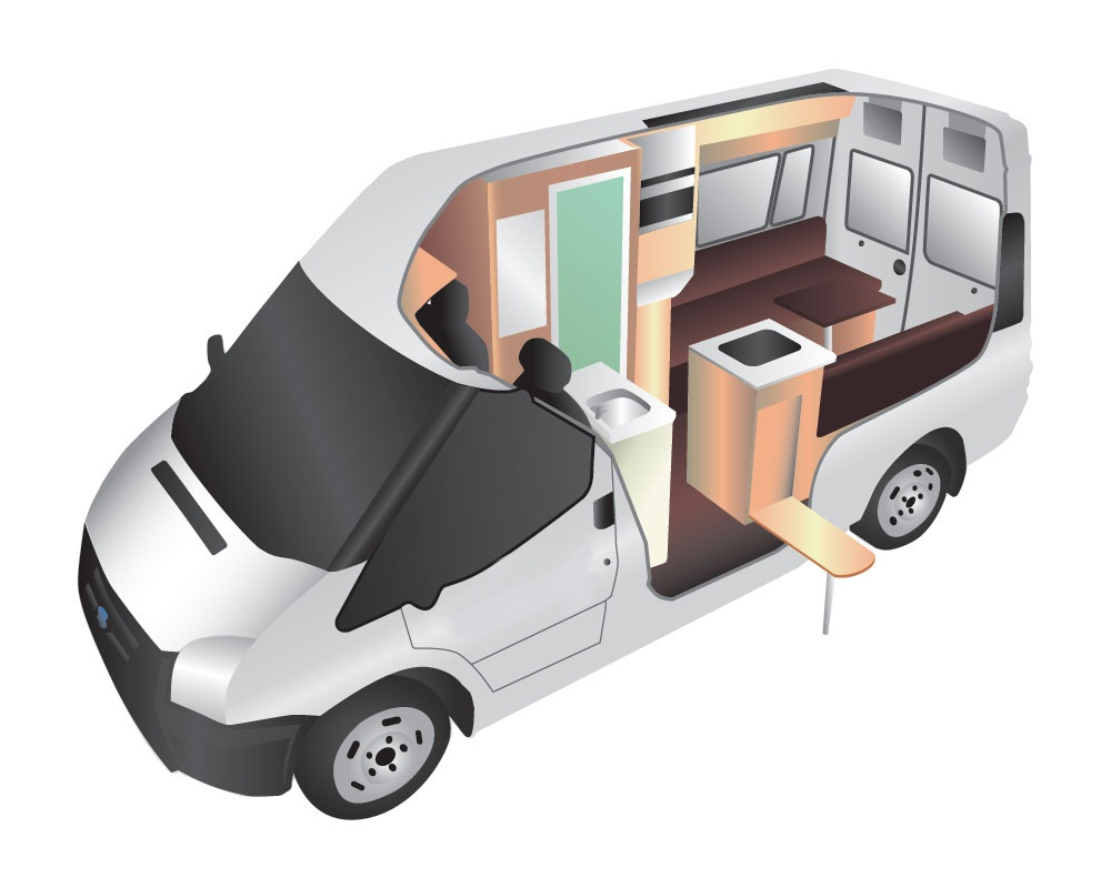 2 Berth Campervan With Toilet And Shower